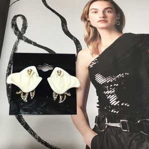 KJL rose earrings white midnight rose Vintage